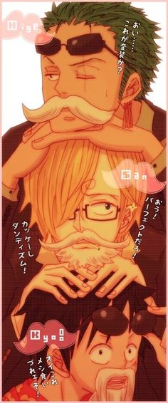 Zoro, Luffy and Sanji. Super trio <3