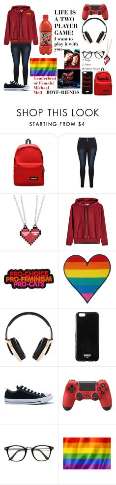 """""""-BE MORE CHILL- FEMALE/GENDERBENT Michael Mell"""" by angel-sanders-1 ❤ liked on Polyvore featuring Eastpak, Hot Topic, Helmut Lang, Minecraft, Pryma, Givenchy and Converse"""