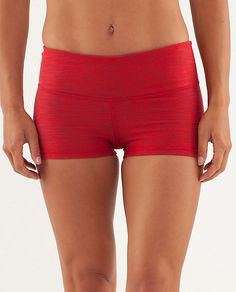 Boogie Short in red denim.  lululemon.  great for bikram.  if you have other boogie shorts, I would definitely recommend sizing up one size in these denim fabric shorts.  they're...snug.