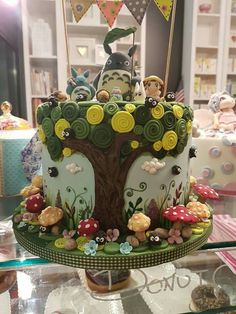 in una pasticceria di mantova Fancy Cakes, Cute Cakes, Fondant Cakes, Cupcake Cakes, Anime Cake, Cake Shapes, Piece Of Cakes, Cute Food, Themed Cakes