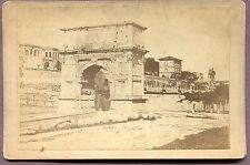 Antique Cabinet Card Photograph Arch of Titus in Rome 1890/99