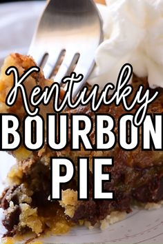 A total southern tradition, this Kentucky bourbon pie is a creamy mix of chocolate chips and pecans. Whether you're watching the Derby or just need a crunchy chocolate fix, it's a must-make whenever the weather warms up! Bourbon Pecan Pie, Bourbon Recipes, Bourbon Pie Recipe, Pecan Pies, Chocolate Chip Pie, Chocolate Recipes, Tart Recipes, Sweet Recipes, Sweets