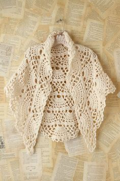 love this vintage look shawl, with diagram