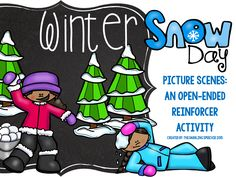 Speechie Freebies: Winter Picture Scene-A Reinforcer Activity For Any Speech Goal. Pinned by SOS Inc. Resources. Follow all our boards at pinterest.com/sostherapy/ for therapy resources.