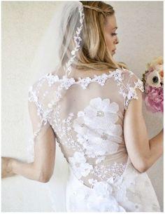 Vestidos de noiva com transparência