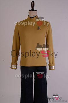 Star Trek Beyond Captain Kirk Yellow Shirt + Badge Cosplay Costume, made in your own measurements.