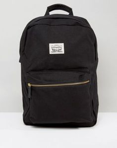 Levi's Canvas Backpack In Black