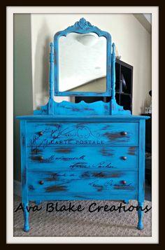 Ava Blake Creations: Vintage Postal Dresser