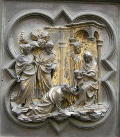 Adorazione dei Magi - Particolare della #PortaNord, #Ghiberti, #Battistero di San Giovanni