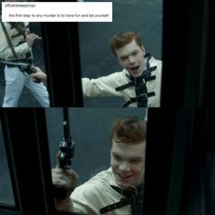 Jerome Valeska has always given the best advice. Gotham City, Jerome Gotham, Gotham Joker, Joker And Harley, Harley Quinn, Gotham Series, Jerome Valeska, Cameron Monaghan, Dc Memes