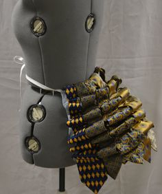 Steampunk Costume Bustle Upcycled Neckties by Crystalsidyll
