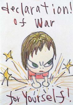 Declaration of War, 1998 Drawing for THE STAR CLUB Works on Paper