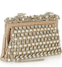 Pearls and crystals on Valentino handbag