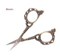 tijeras de acero inoxidable clásico del ciruelo de estilo europeo de la mano de bricolaje pequeñas tijeras