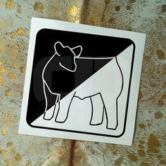Show Cattle Steer Outline Vinyl Sticker by CarouselDesign on Etsy