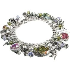 The Enchanted Dragon Bracelet, Silver Dragon Charm Bracelet, Dragon... ($138) ❤ liked on Polyvore featuring jewelry, bracelets, silver charm bracelet, silver bangles, charm bracelet, silver jewelry and silver jewellery