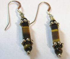 Tiger Eye Earrings Solid 930 & 925 Sterling by jpatterson312, $25.00
