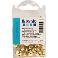Artemio Jingle Bells Assorted 30/Pkg-Gold .2', .3' And .4' – Oxeme Gifts