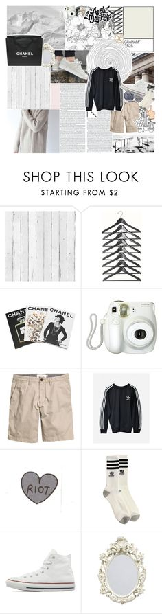 """you're a lover of the wild—"" by graham-almighty ❤ liked on Polyvore featuring NLXL, Assouline Publishing, Branca, H&M, adidas, Converse, Topshop, Chanel, vintage and women's clothing"