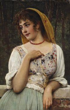 Luigi Bechi, Italiano, 1830-1919) - Deux petits ciociari