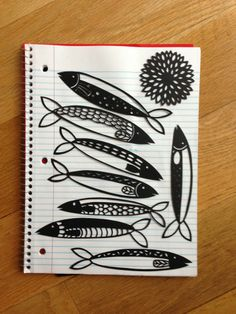 From your board.  I really like these sketches and fun applications on the sardines