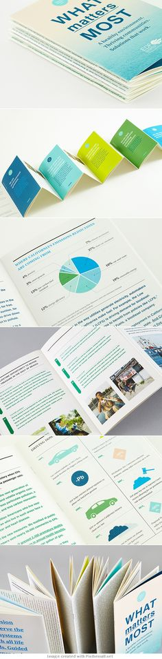 EDF Annual Report (color pages and pie chart) Design Typo, Web Design, Book Design, Typography Design, Layout Design, Creative Design, Branding Design, Print Design, Flyer Design
