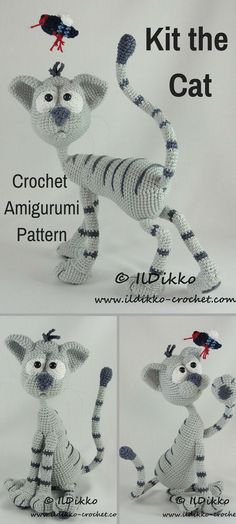 Kit the Cat is a sweet crocheted amigurumi doll that would love to call your home hers. You can create your own Kit the Cat with this downloadable pattern. #crochet #amigurumi #crochetdoll #ad #amigurumidoll #amigurumipattern #cat #instantdownload