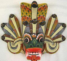 Serpent mask of Sri Lanka