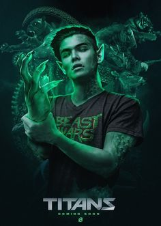 "'Titans' TV series: Ryan Potter cast as Beast Boy in upcoming live-action series. Ryan Potter has been cast as DC Comics superhero Beast Boy in the company's upcoming live-action series, ""Titans. Teen Titans Robin, Teen Titans Go, Titans Tv Series, Conor Leslie, Ryan Potter, Raven Beast Boy, Original Teen Titans, Bbrae, Young Justice"