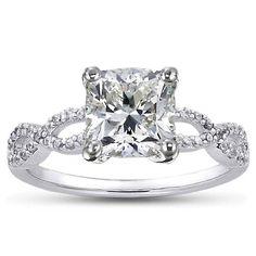 White Gold Infinity Diamond Ring - Wedding Diary