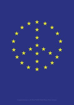 Nobel Peace Prize Winner`s Congrats Flag Planned by Alexander Stubb, EU And Foreign Trade Minister of Finland