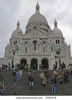 sacre cour, Paris - stock photo