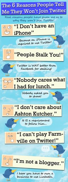 6 Real Reasons People Have Told Me They Won't Join Twitter