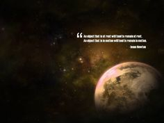uplifting quotes | Newton Space Inspirational Quote wallpaper