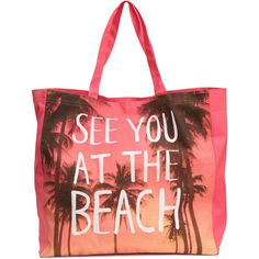 Beach bag ($14) ❤ liked on Polyvore featuring bags, handbags, red bag, pattern purse, print bags, red purse and print purse