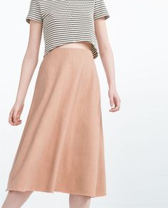 ZARA - COLLECTION SS16 - MID-LENGTH SKIRT