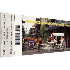 That's My Ticket LSU Tigers 2008 BCS National Championship Canvas Mega Ticket
