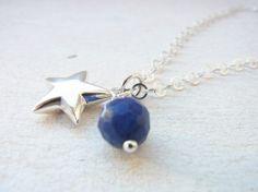silver necklace with star and sodalite  sumaju on DaWanda.com