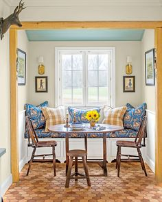 Dining Nook with Window Bench