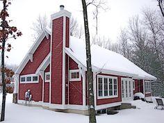 Cottage Craftsman Rear Elevation of Plan 59916