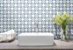 Gresie portelanata patchwork, stil marocan, productie Keros, Spania. #BlissArt #Keros #gresiestilmarocan #gresiedecorativa #gresiebaie #gresieturcoaz #gresiepatchwork