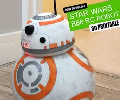 This is an easy 3D printable Star Wars BB8 robot. It's controlled by an Arduino UNO over a bluetooth connection from your smartphone #3dprinting #droid #arduino #bb8 #starwars