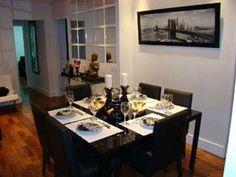 sala de jantar preta