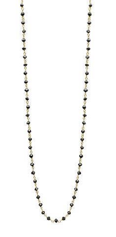 6CT Black Diamond 14K Yellow Gold Rosary by TIAARA (Also available in White Gold)