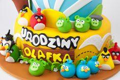 angry birds cake, angry bird, wściekłe ptaki tort, torty dla chłopca