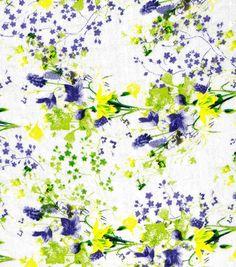Fashion Cotton Fabric Swiss Dot Lilacs Purple Green CottonFashion Cotton Fabric Swiss Dot Lilacs Purple Green Cotton,