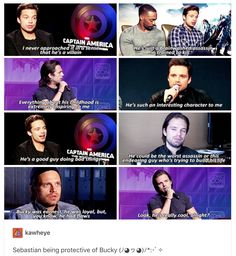Nobody knows Bucky like Seb. Which is good, you know. It wouldn't be all that great if he didn't get his own character.