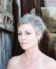 """Résultat de recherche d'images pour """"styliser les cheveux gris et court"""""""