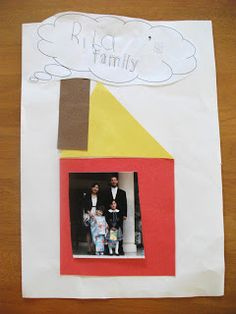 Preschool Crafts for Kids*: My Family Shapes House Craft