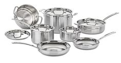 Cuisinart Multiclad Pro Stainless Steel 12-Piece Cookware Set * Want to know more, click on the image.